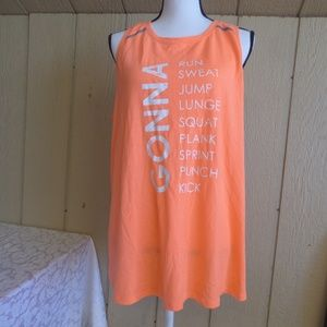 Jessica Simpson Envelope Back Printed Tank Top, X